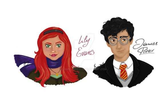James Potter and Lily Evans by AmyLeeKey