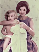 Jacqueline and Caroline Kennedy by KraljAleksandar