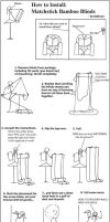 How to install: Bamboo Blinds by Llyzabeth-Kythryn