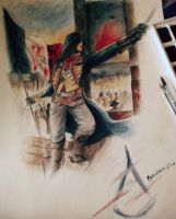 Revolution! - AC Unity, watercolors and pen by Musiriam