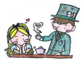 Alice and Mad Hatter in Love? by heygray