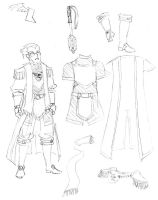 Character design - Cleric by Equussapiens