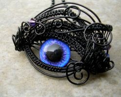 Wire Wrap - Blue Purple Violet Eye - Super Shift 2 by LadyPirotessa