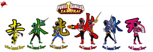 Power Rangers Samurai by DK-DarkKitty