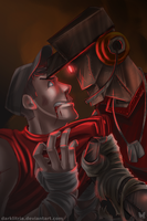 TF2: Those metal Eyes by DarkLitria