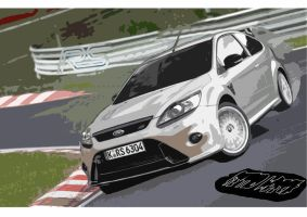 Ford Focus RS Painting by Fetid-Wreck
