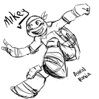 TMNT2012 Mikey by HyperactiveInnocence
