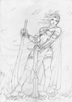 Valhalla Onnika Sketch by abe7280