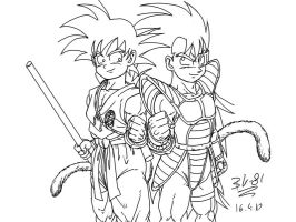 Goku and Radditz kids by BK-81