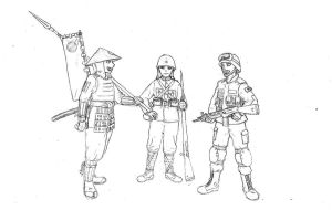 Military through the ages 1: japan average soldier by The-little-Trilobite