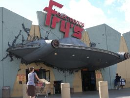 UFO crashed into the Fry's Electronics store by trivto