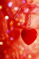 Heart, lips and glitter by fotojenny