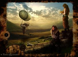 Steampunk explorers by tamaraR