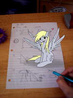 Derpy is on my math homework! by Starry-Bat1