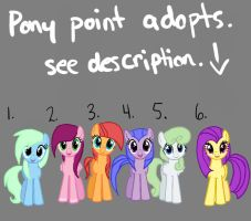 Pony Point adopts see rules in description by clownbard