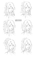 Asuna Different Hairstyles by ku-noichi