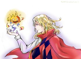 Howl and his fire demon by Pcat007