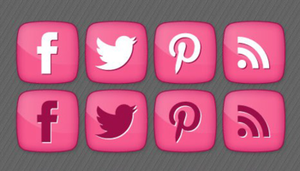 Girly Social media Icons by DesignBolts by DarkStaLkeRR