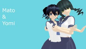 MMD newcomers Mato and Yomi by buddy1o
