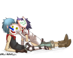 2D and Noodle by kazumitakashi