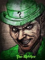 Riddler (pen sketch)by ~myconius by jokercrazy