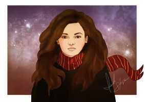 Hermione Sketch by IsaiahStephens