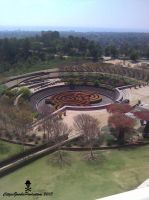 The Getty Center Garden by CZProductions