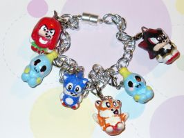 sonic and friends charm by Muku-charms