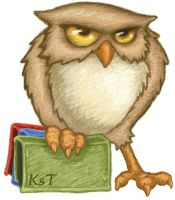 Owl with books by KatiaST