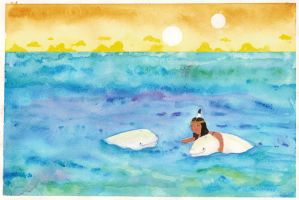 Belugas and a Injun Princess by inner-etch