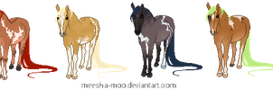 Pixel Pony Adopts- OPEN by Meesha-Moo