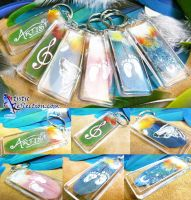 Feather Keychains by dittin03