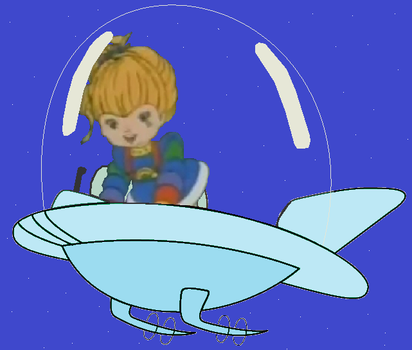 Rainbow Brite driving a Jetson Car by GuiherCharly