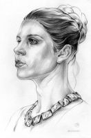 Carrie Fisher as Leia Organa by Callista1981