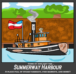 Summerway Harbour poster by RailwayFan2001