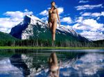 Mountain Lake Giantess by Accasbel