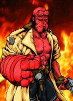 Hellboy by psychomud