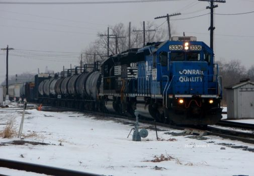 NS Conrail 3336 Eastbound by JamesT4