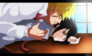 ART TRADE There you are   sasuke chan by RodriNessa