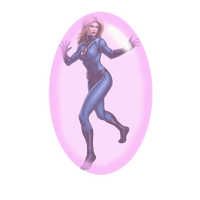 Invisible Woman Gummed Up by blunose2772