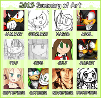 2013 Summary Of Art by Bubbleslou