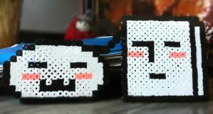 Italy and Germany Perler's by SydneyA