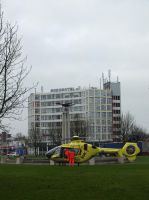 lifeliner 5 infront of a fountain. by damenster