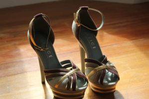 Size 6 Platform Heels 6 inch Gold, Teal, Maroon by BJE64
