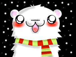 Polar Bear....with a scarf.. by ChiruMuffin-Chan