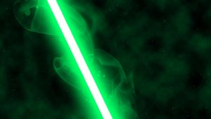 Green Lightsaber by nerfAvari