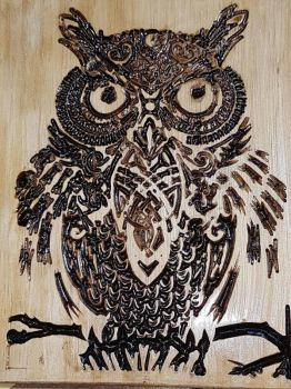 Wise Owl Carving by TaylorWallArt