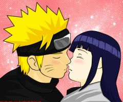 Almost Kissing - NarutoxHinata by Pia-sama