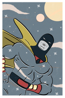 SPACE GHOST POPTAGE by paintmarvels
