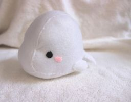 White Beluga Whale Plush by PinkChocolate14